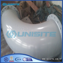 Seamless pressed bend with flange