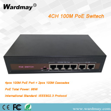 WDM 4chs double Uplink port POE switch