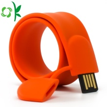 Hot Sale for Silicone Slap Bracelets Fashion Silicone USB Flash Drives Slap Bracelet/Wristband export to Spain Suppliers