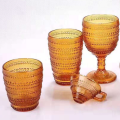 Small beads decorated glass drinking set glass tumber