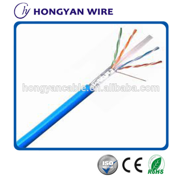 Customized for Flat Cat 6 Network Cable 4pr 23awg Cat6 FTP network cable passed FLUKE supply to Mozambique Exporter