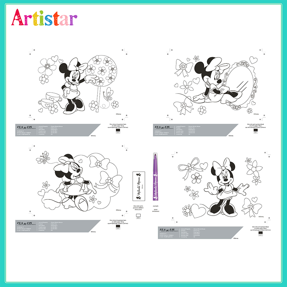 Disney Minnie Mouse Colouring Set 01