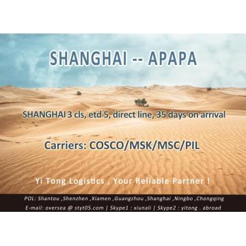 Shanghai Sea Freight to Apapa