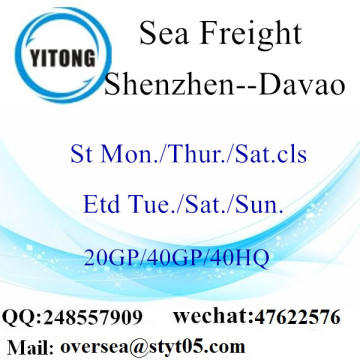Shenzhen Port Sea Freight Shipping To Davao