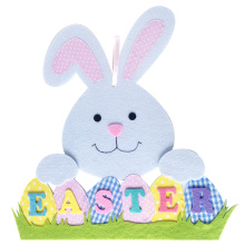 Easter bunny pattern wall sign and hanging decorations