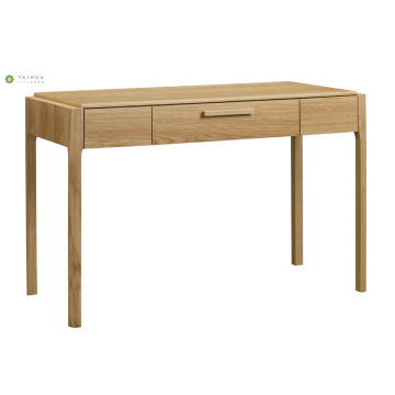 Volle Massivholz Light Walnut Dresser Table & Hocker