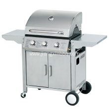Bottom price for Burner Gas Grill 3 Burners Gas Grill With Foldable Side Tables supply to South Korea Manufacturer