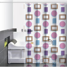 8 Hole Waterproof Bathroom printed Shower Curtain