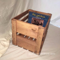 Vintage Record Holder Wood Crate