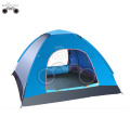 double door green camping tent for 3-4 person