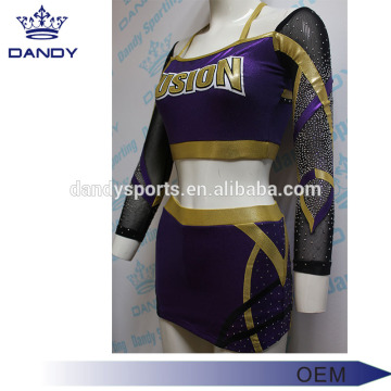 Custom Purple Mystique Cheerleading Clothes