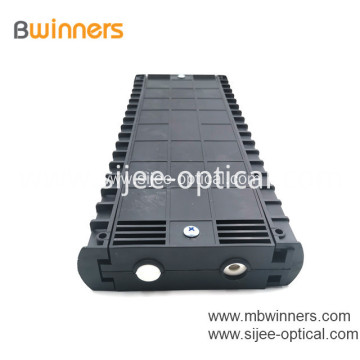 Horizontal Fiber Optic Splice Closure Joint Box 48 Fibers 2 Inlets 2 Outlets