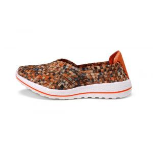 Orange Series Woven Elastic Threads Soft Outsole Slip-ons