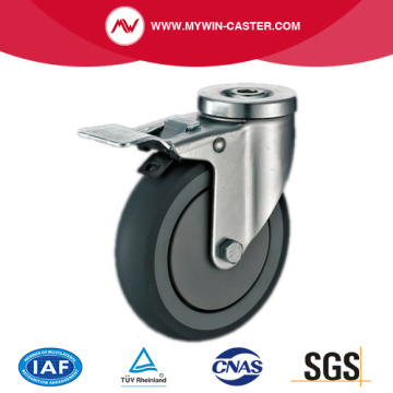 Brake Bolt Hole TPR Wheel Industrial Caster