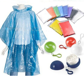 Fashion Rain Adult Reusable Foldable PE Poncho
