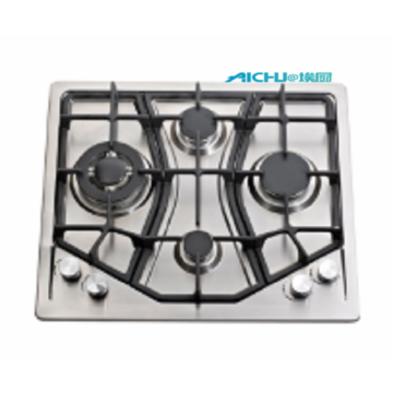 Built in 4 burners Stainless Steel Hob