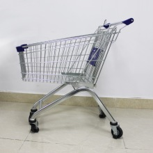 60L supermarket metal shopping cart