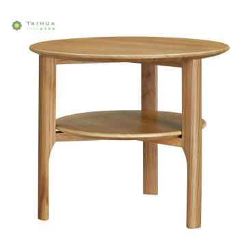 Light Walnut Solid Wood Side Table