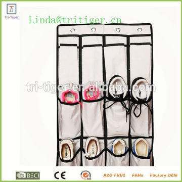 20 Pocket Hanging Over Door Shoe Organizer Storage Rack