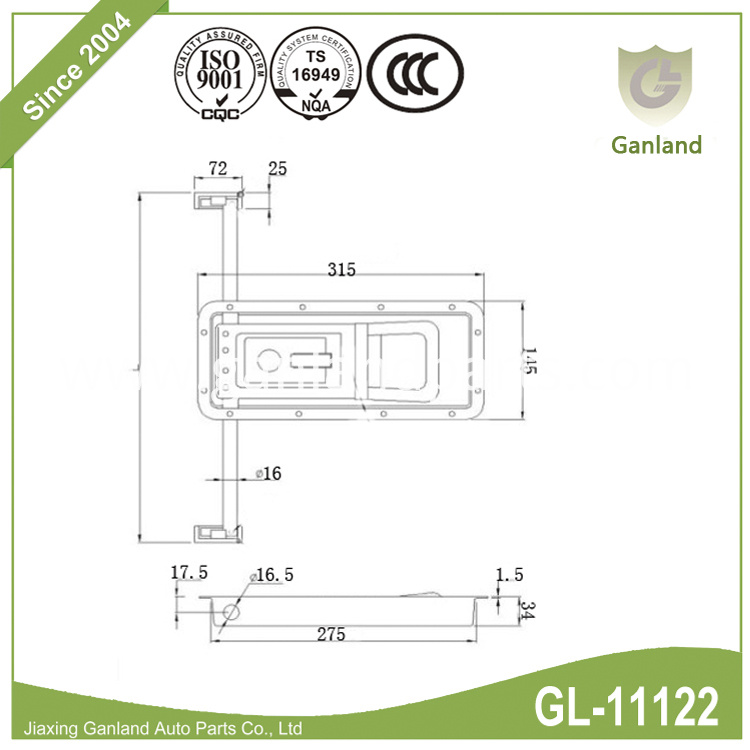 Truck Door Safety Latch GL-11122C
