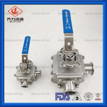Stainless Steel 3 Way square Ball Valves