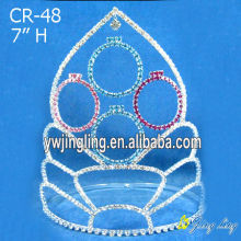 "7"" Cheap Pageant Crowns Hair Jewelry"