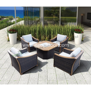 Leisure 5pcs craft outdoor sofa set rattan