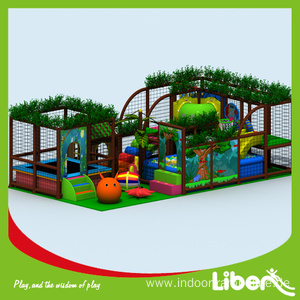 professional factory for Indoor Amusement Playground With Climbing Structure Indoor play with carousel,jumping bed,jungle gym supply to Nepal Manufacturer