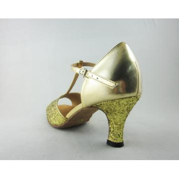 Girls latin dance shoes 2  inch heel