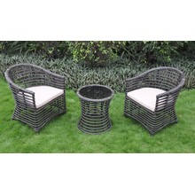 New Style Patio Furniture Rattan Woven Dining Sets