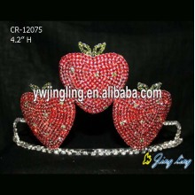 Red Rhinestone Strawberry Pageant Crowns