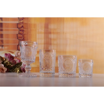 High Quality Roman Sign Glass Drinkware Set Glass Cup And Wine