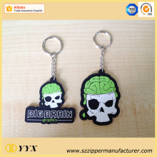 Big Discount for Rubber Keychain Customized skull shape logo 3d silicone keychain export to France Manufacturer