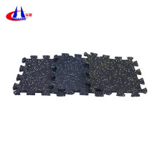 Anti-slip rubber gym mats interlocking