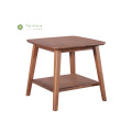Rectangular Dark Walnut Solid Wood Side Coffee Table
