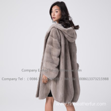 Kopenhagen Mink Fur Lady Overcoat In Winter