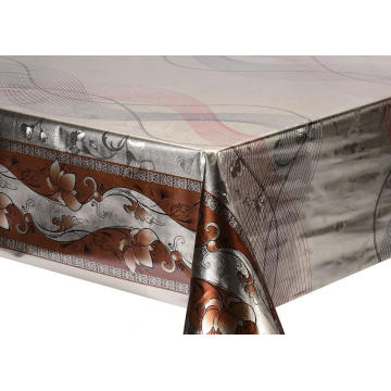 Double Face Emboss printed Gold Silver Tablecloth Discount