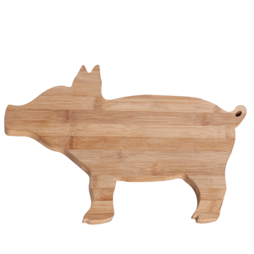 Pig shape bamboo cutting board
