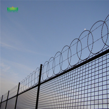 Razor blade barbed concertina wire