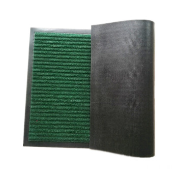 Hotel entrance durable ribbed stripe polyester mat