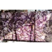 Translucent  amethyst  stone background slab