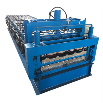 Corrugated roof sheet making glazed tile forming machine
