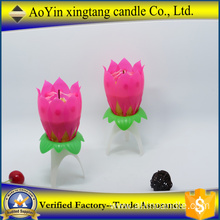 Music lotus flower birthday candle