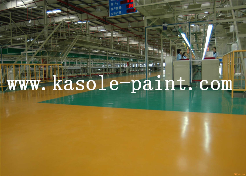 Yellow Waterborne Epoxy Resin Floor