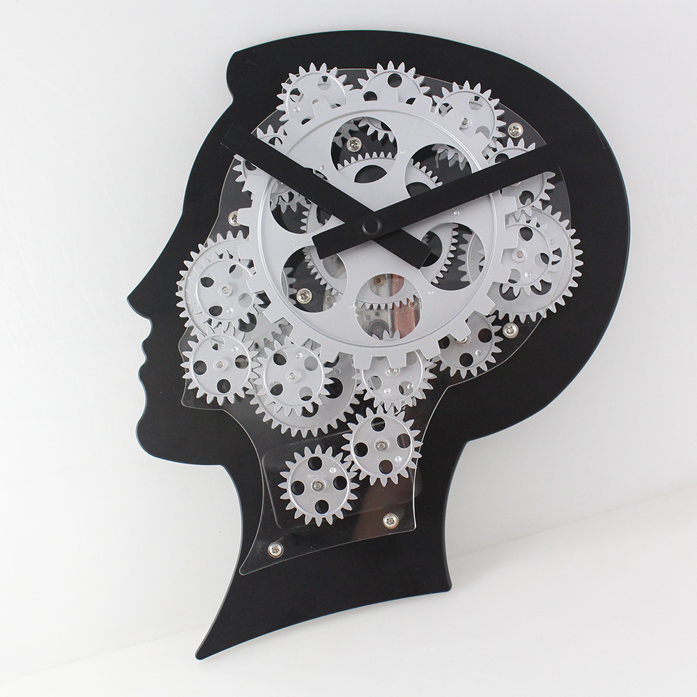 Wall Clock With Visible Gears