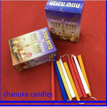 Stock Multicolor Hanukkah Jewish Wax Candles