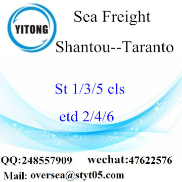 Shantou Port LCL Consolidation To Taranto