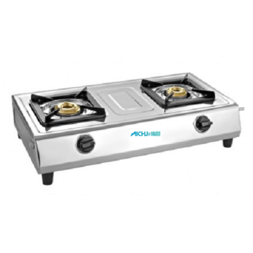 Popular SS Gas stove 2 Burner ISI Marked