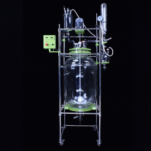 Top Brand Chemical jacketed glass reaction vessel
