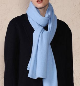 80% Wool 20% Cashmere Knitted Scarf